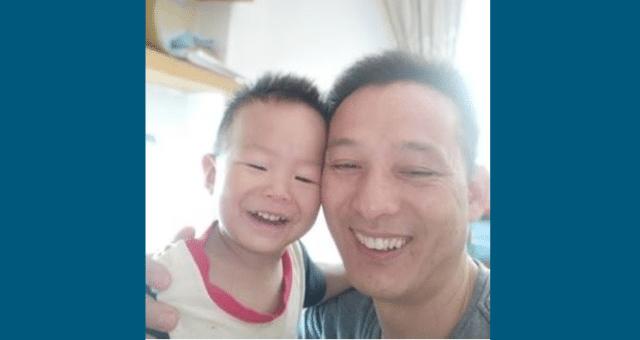 Pan Dai Xuebing i jego syn (zdjęcie bez daty)
